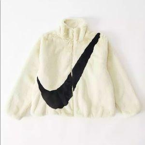 NEW Nike Sportswear Faux Fur Jacket